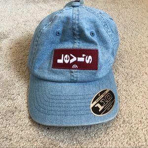 Levi's Logo Applique Denim Jean Baseball Cap Hat